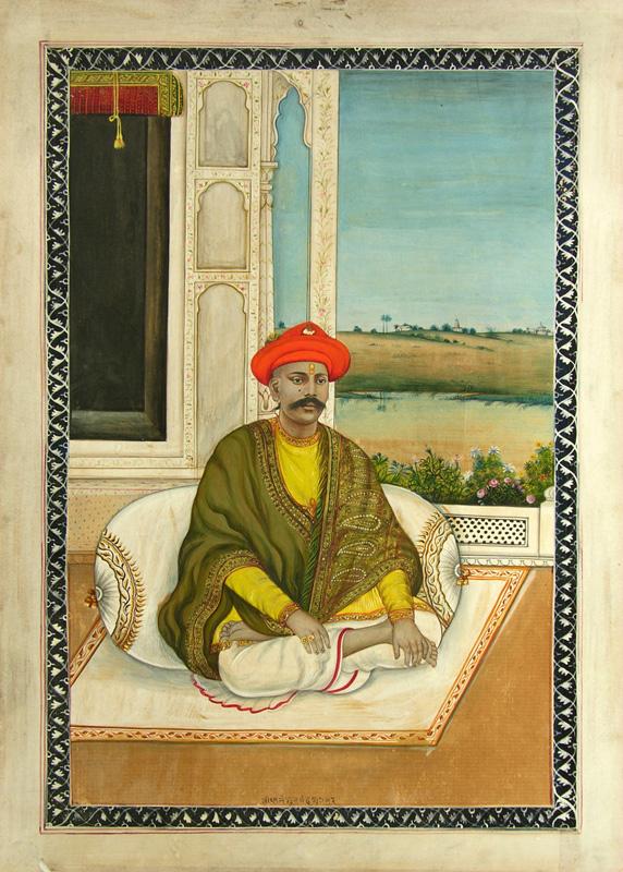 Hindu Jagirdar seated on verandah