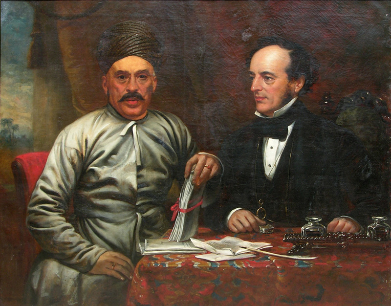 Ship-builder Jehangir Nowrojee and steamboat agent Oliver Miller White