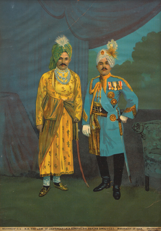 Jam Ranjitsinhji and General Pratap Singh