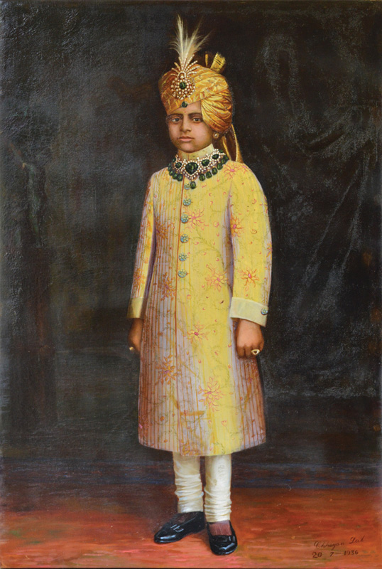 Unidentified Young Prince from Princely State of Kathiawad