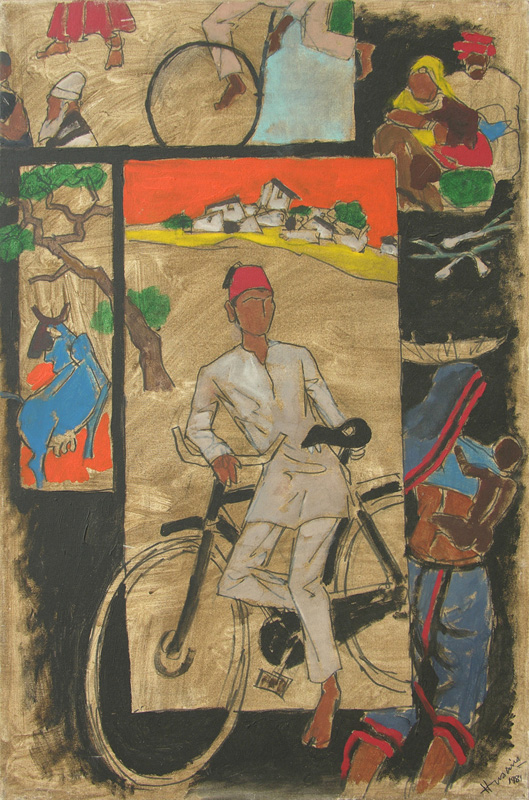 My childhood in Indore by M. F. Husain