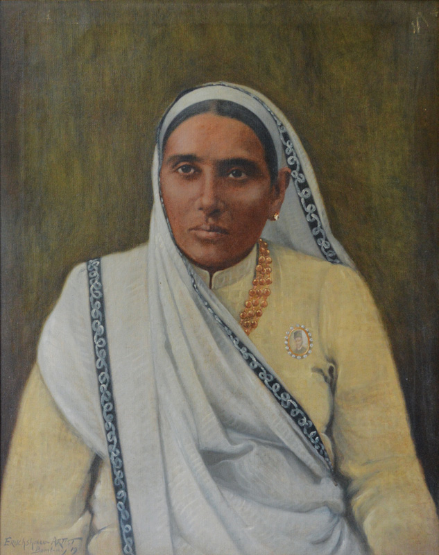 Parsi Lady wearing a khadi saree