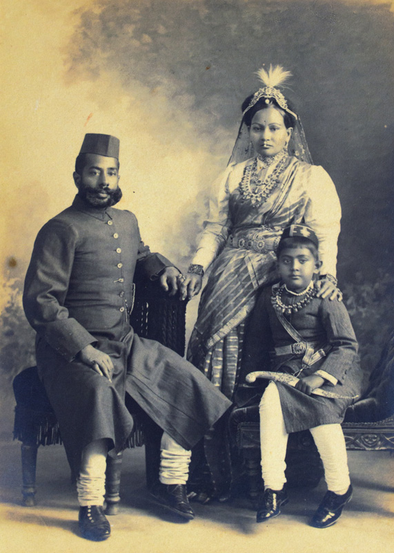 Royal Couple with child from Lucknow