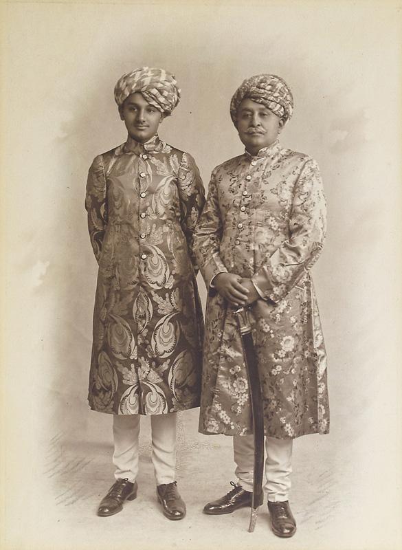 Maharao Sir Khengarji III and Yuvraj Vijayaraji
