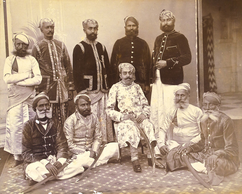 Prince Bhupal Singh and Nobles