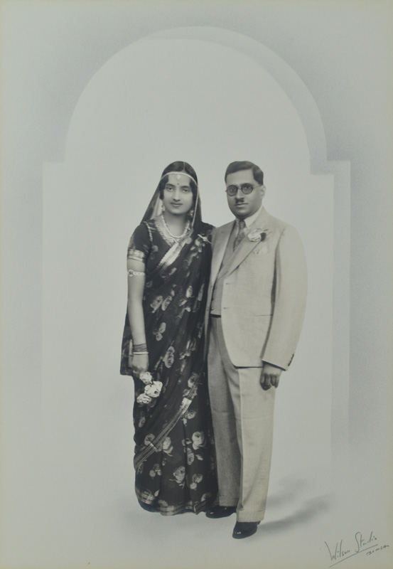 Maharaja Natwarsinhji Fatehsinhji with his wife