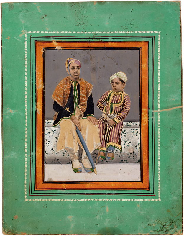 Maharana Bhagwat Singh of Mewar with a prince