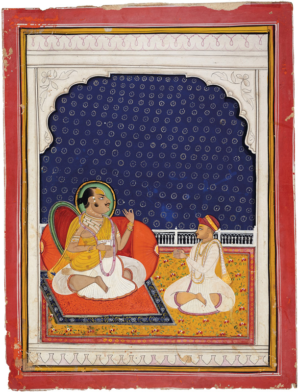 Tilkayat Damodarji Maharaj with a shishya