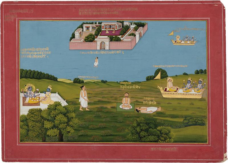 King Pururava with Urvashi