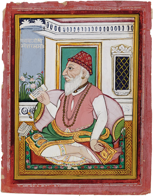 Baba Shri Morarswami reciting from a manuscript