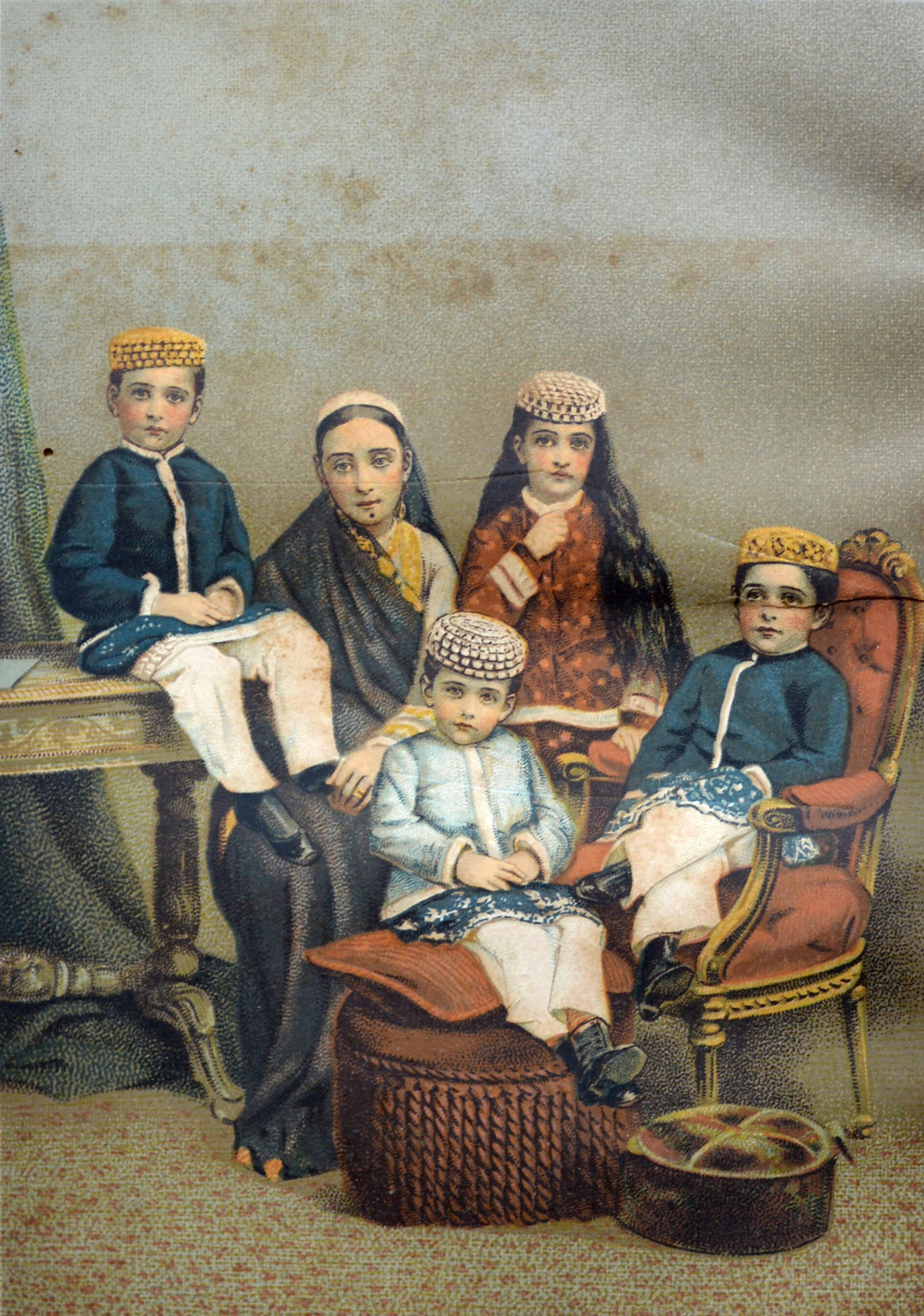 A Parsi mother and her children