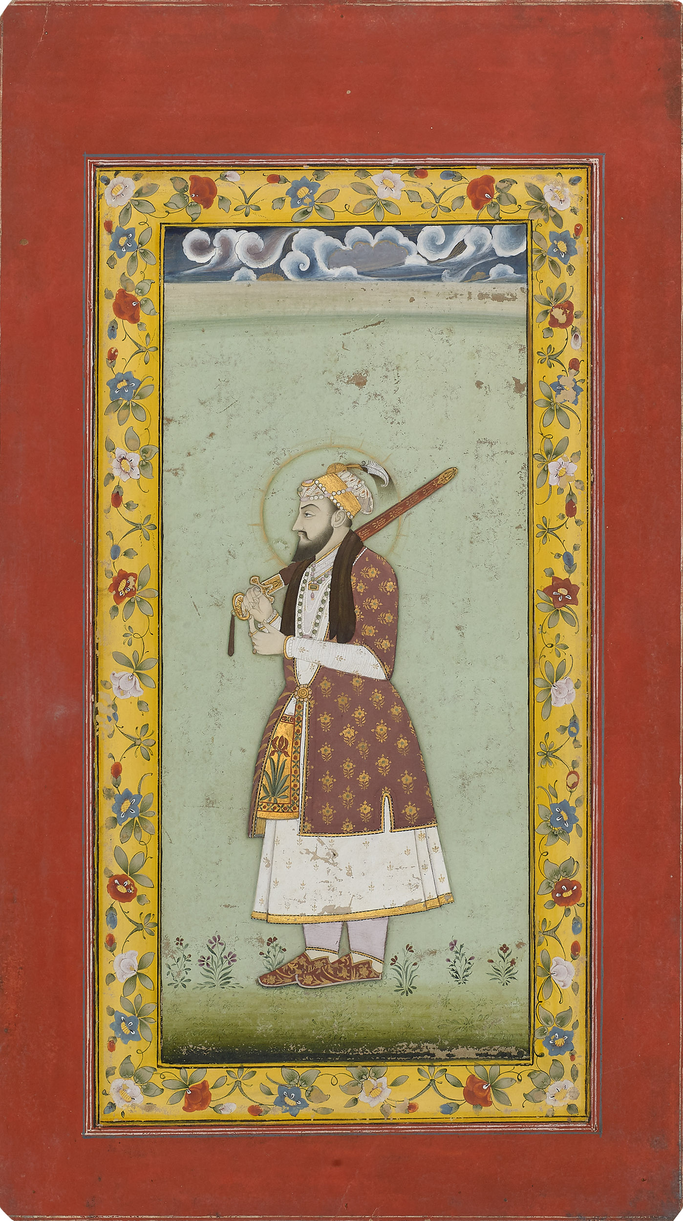Shah Jahan Holding a Sword