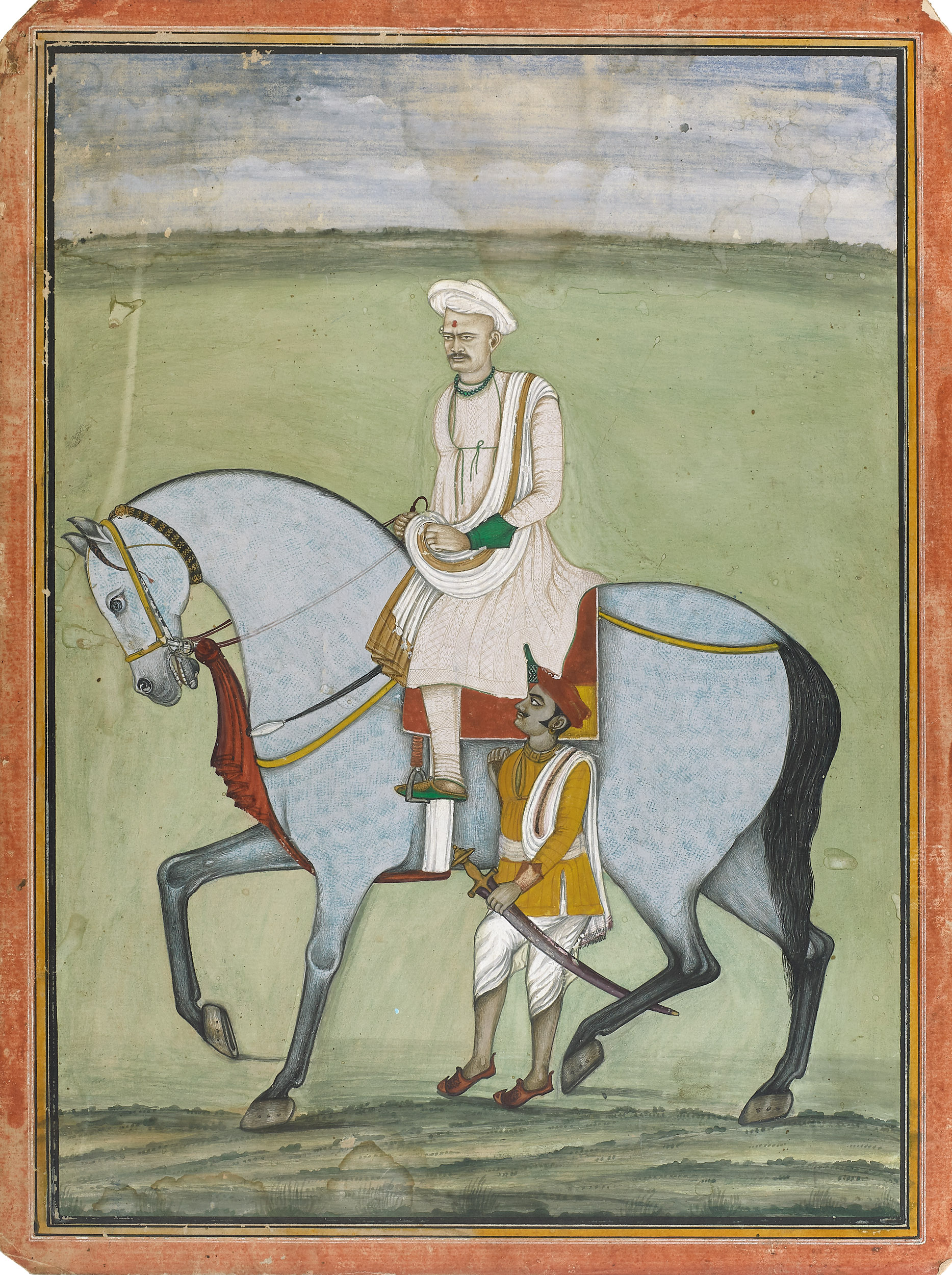 Equestrian Portrait of a Maratha Noble