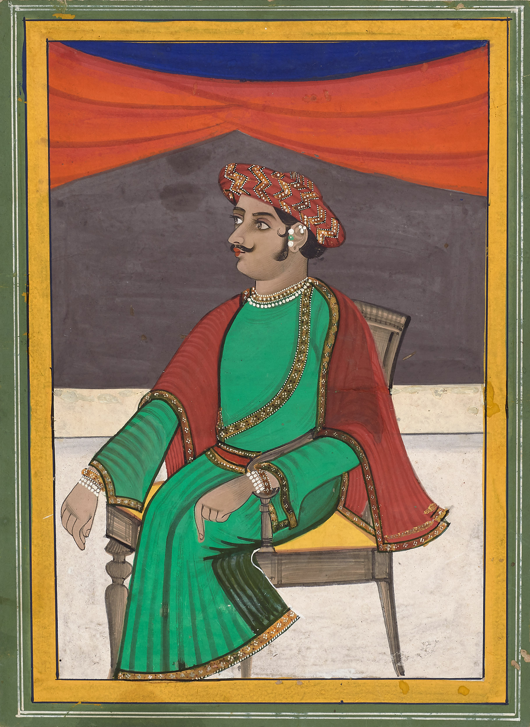 A Bengali Man Seated in a Chair