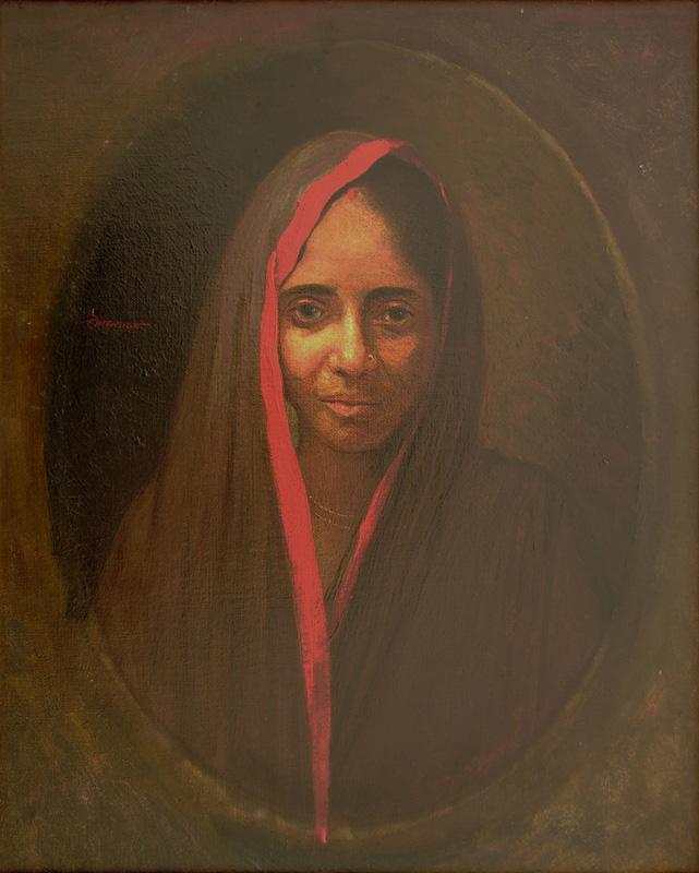 Portrait of Lady by Jamini Prakash Gangooly