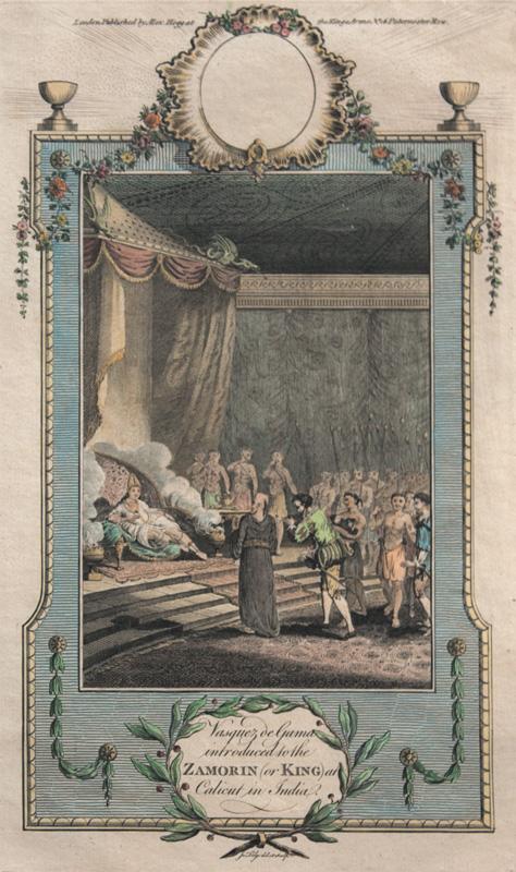 King of Calicut welcomes Vasco-da-Gama