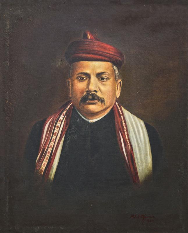 Portrait of an artist L. N. Taskar