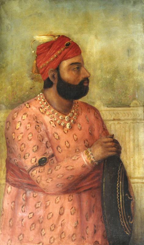 Royal Dignitary holding a shield