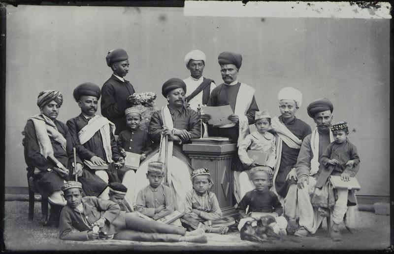 Gujarati Noblemen with their children