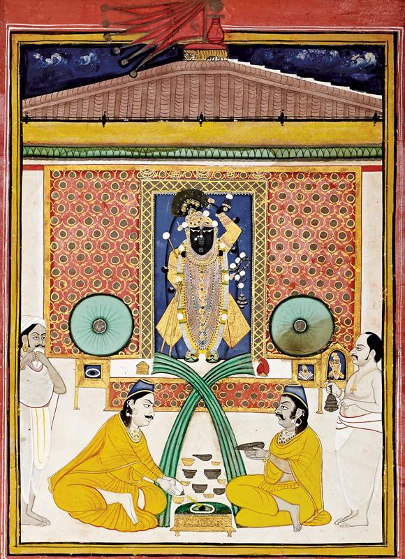 Performing Shaligram Puja on the day of Prabodhini Ekadesi