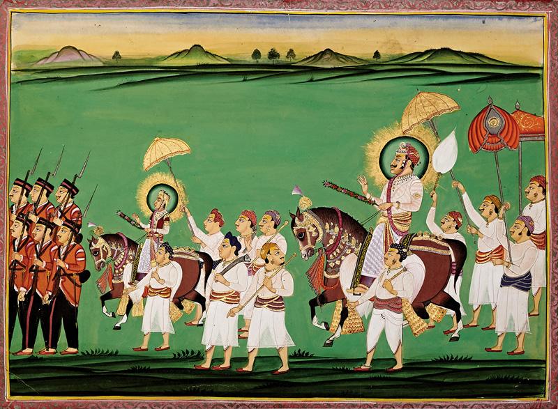 Procession for the festival of Chunri Gangaur