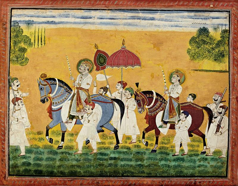 Tilkayat Girdharji with his son Govardhanlalji on tour