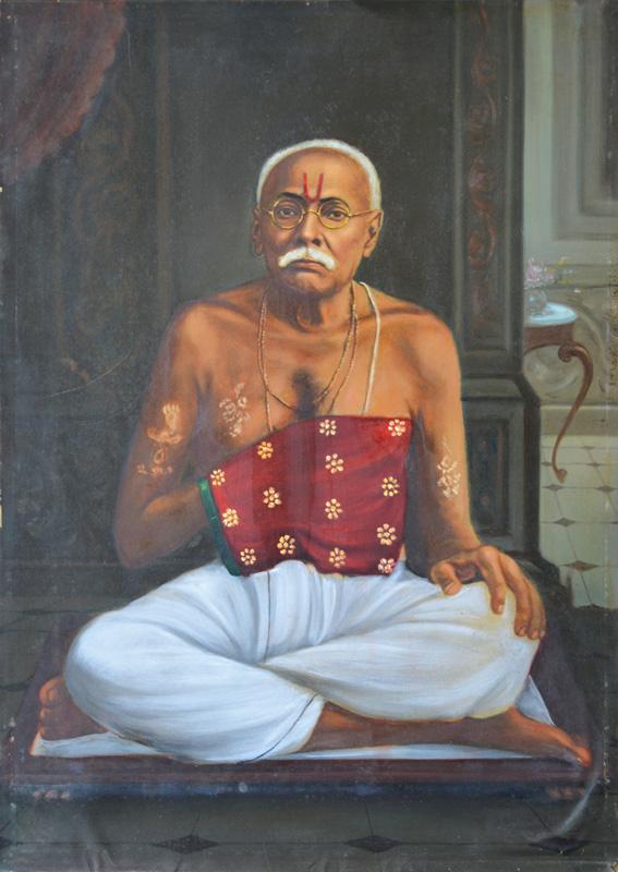 Brahmin with prayer beads