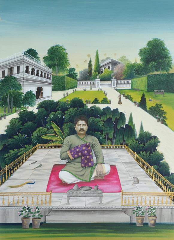 Vyas Chheshulal on a terrace garden