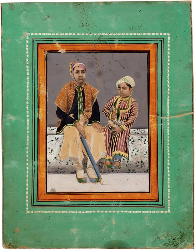 Maharana Bhagwat Singh of Mewar with a prince