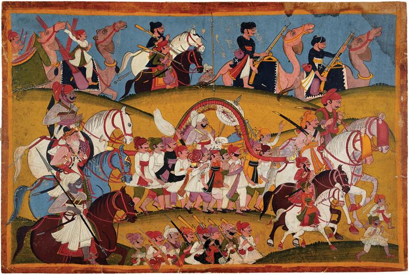 Rao Bahadur Singhji returning from mela