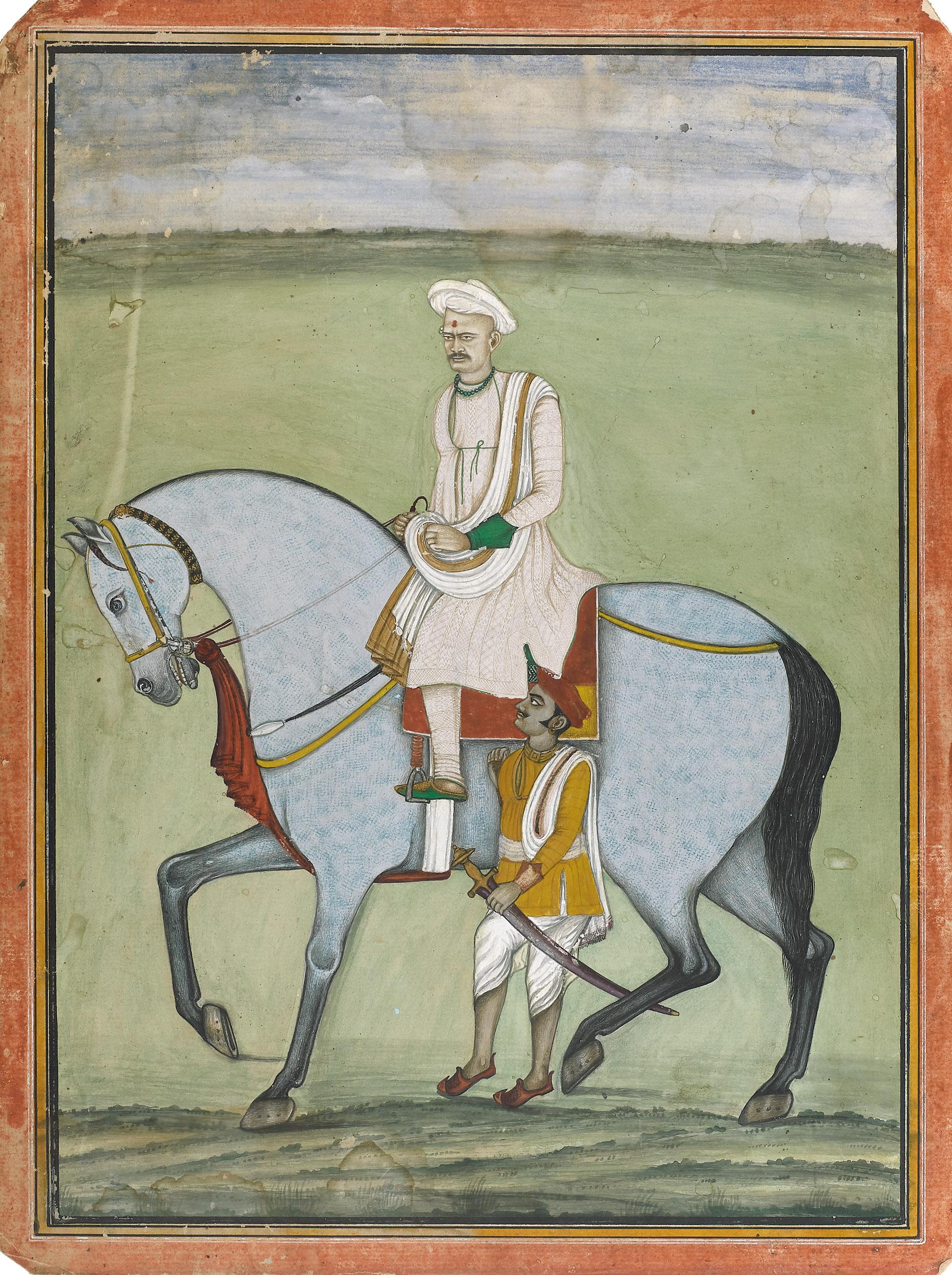 Equestrian Portrait of a Maratha Noble