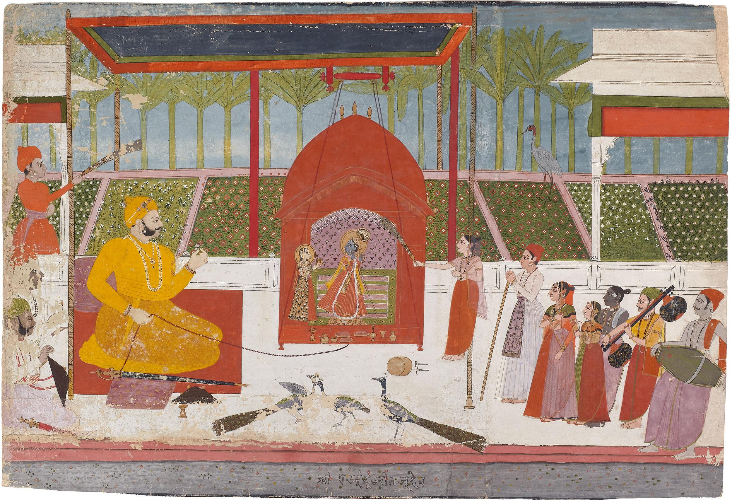 Rao Indrajit Singh Celebrating Jhulan Yatra
